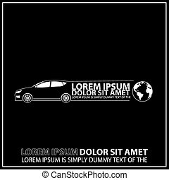 Car logo line art illustration with place for Your sample...