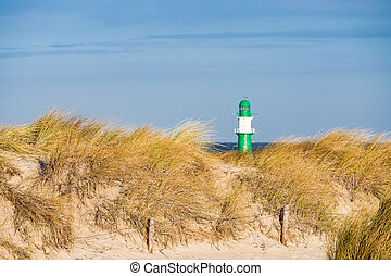 Dune on the Baltic Sea coast in Warnemuende Germany