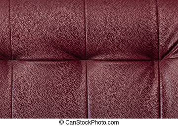 Texture of chili red leather furniture