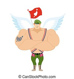 Cupid Troopers Winged Landing Military Angel for Valentines...