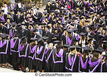 the graduation celebration - PORTSMOUTH - JULY 20:...