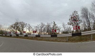 mountainous highway, GoPro - winding mountain road, GoPro