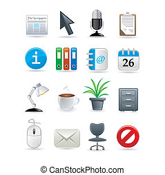 office icon set. Vector illustration