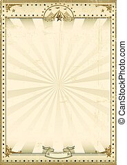 Circus brown vintage background - A circus vintage poster...
