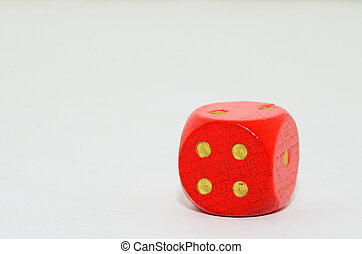 red cube with white background