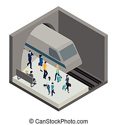 Underground People Illustration - Underground people with...