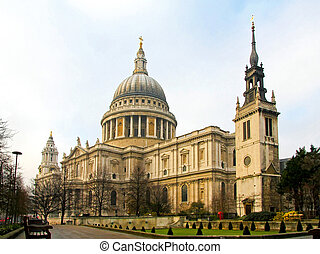 Cathedral St Paul - Big temple of St Pauls cathedral in...
