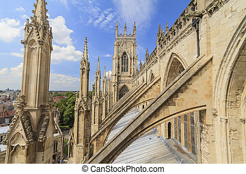 The famous York Minster - Sightseeing on the famous York...