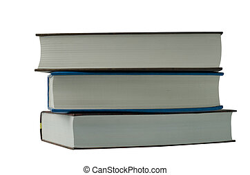 three books on a white background