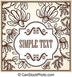 Flowers of camomile - Vintage template cards and invitations...