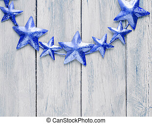 Christmas wreath, decoration of stars