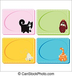 0116_26 frames cards - Assorted Baby Cards with a window...