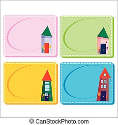 0116_27 frames cards - Assorted Baby Cards with a window...