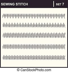 0116_34 sewing stitch - Collection of vector illustration...