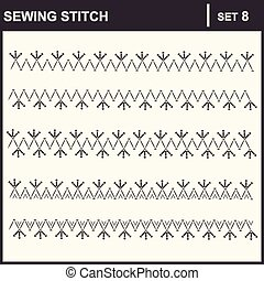 0116_35 sewing stitch - Collection of vector illustration...