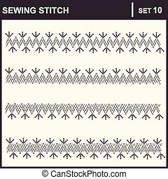 0116_37 sewing stitch - Collection of vector illustration...
