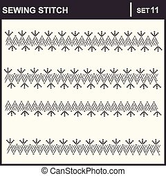 0116_38 sewing stitch - Collection of vector illustration...