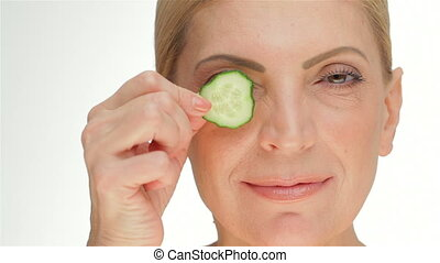 The concept cucumber facial mask