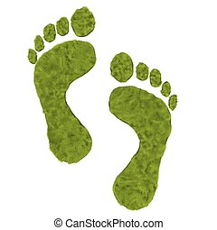 Green foot print - Green grass foot print is to promote the...
