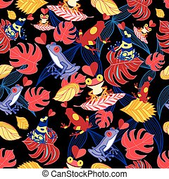 pattern of the lovers frogs - bright seamless pattern with...