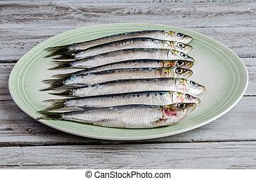 fresco, sardinhas,