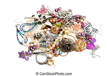 Stack of colorful accessories - Colorful accessories,...