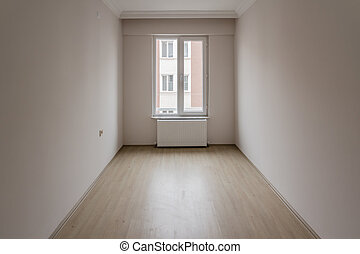 Bright Small Room of New Apartment with One Window