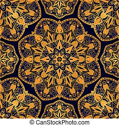 South ornament with pineapple. - Seamless vector background...