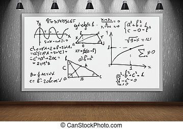 Banner with mathematic formulas - Drawing mathematic...