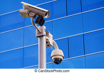 Surveillance office building - Security surveillance cameras...