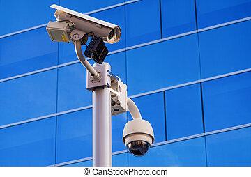 Surveillance office building - Security surveillance cameras...