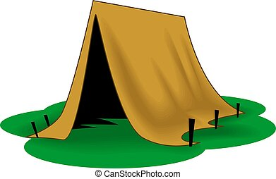 tent	 - Illustration of tent with background