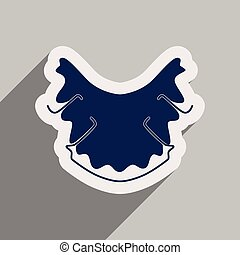 Icon of dental caries in flat style