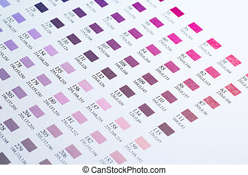 Color charts - Closed up Color charts