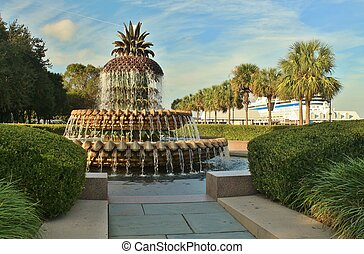 Pineapple fountain in Charleston, SC