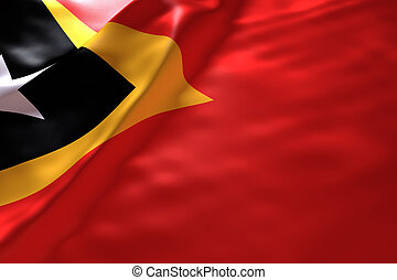 Timor Leste flag background