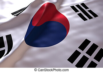 South Korea flag background