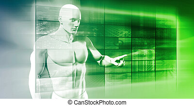 interfaccia, futuro, tecnologia