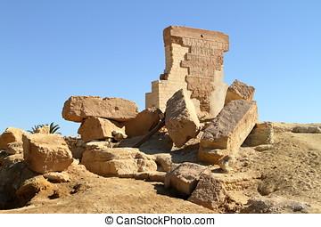 den, tempel, av, Umm, Ubayda, In, egypten,