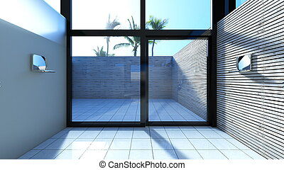 Bathroom - 3D CG rendering of bathroom