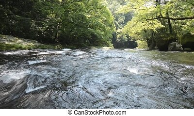 Very shallow river