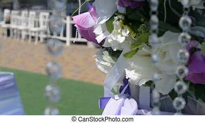 Flowers with tassels loose in the wind