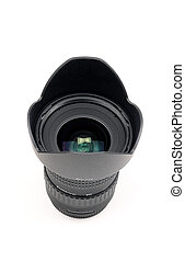 Camera lens with hood