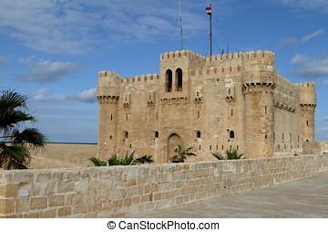a, cidadela, de, Alexandria, em, Egito,