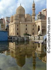 mesquita, em, Alexandria, em, Egito,