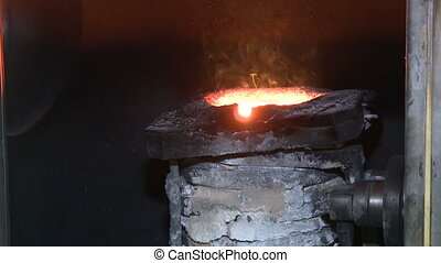 Furnaces for metal smelting 3 - Liquid metal in the factory,...
