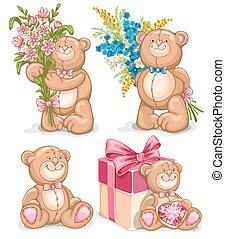 Bear toys set
