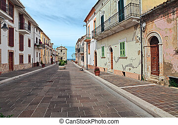 San Vito Chietino, Abruzzo, Italy - pedestrian street in the...
