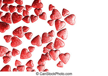 red hearts valentine background - red hearts texture as nice...