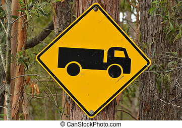 Truck Road Sign